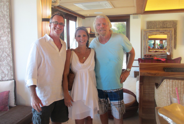 Shawna, Richard and Thom at Necker