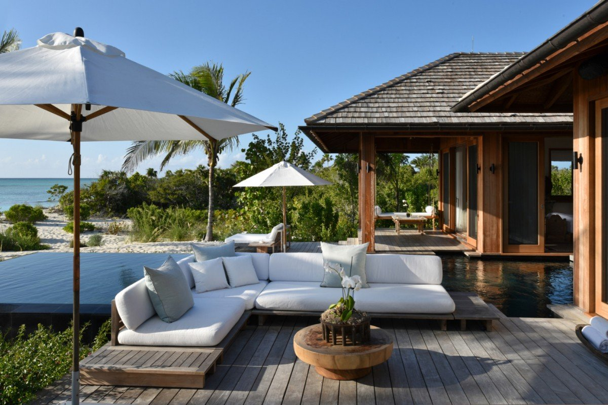 Parrot Cay Resort- Love Pumpkin Private outdoor luxury  image, Turks and Caicos