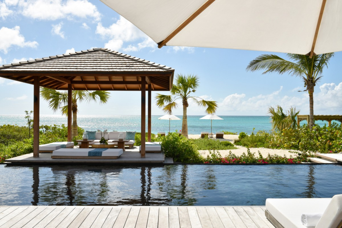 Parrot Cay Resort- Love Pumpkin A private cabana sits beachfront at Love Pumpkin image, Turks and Caicos