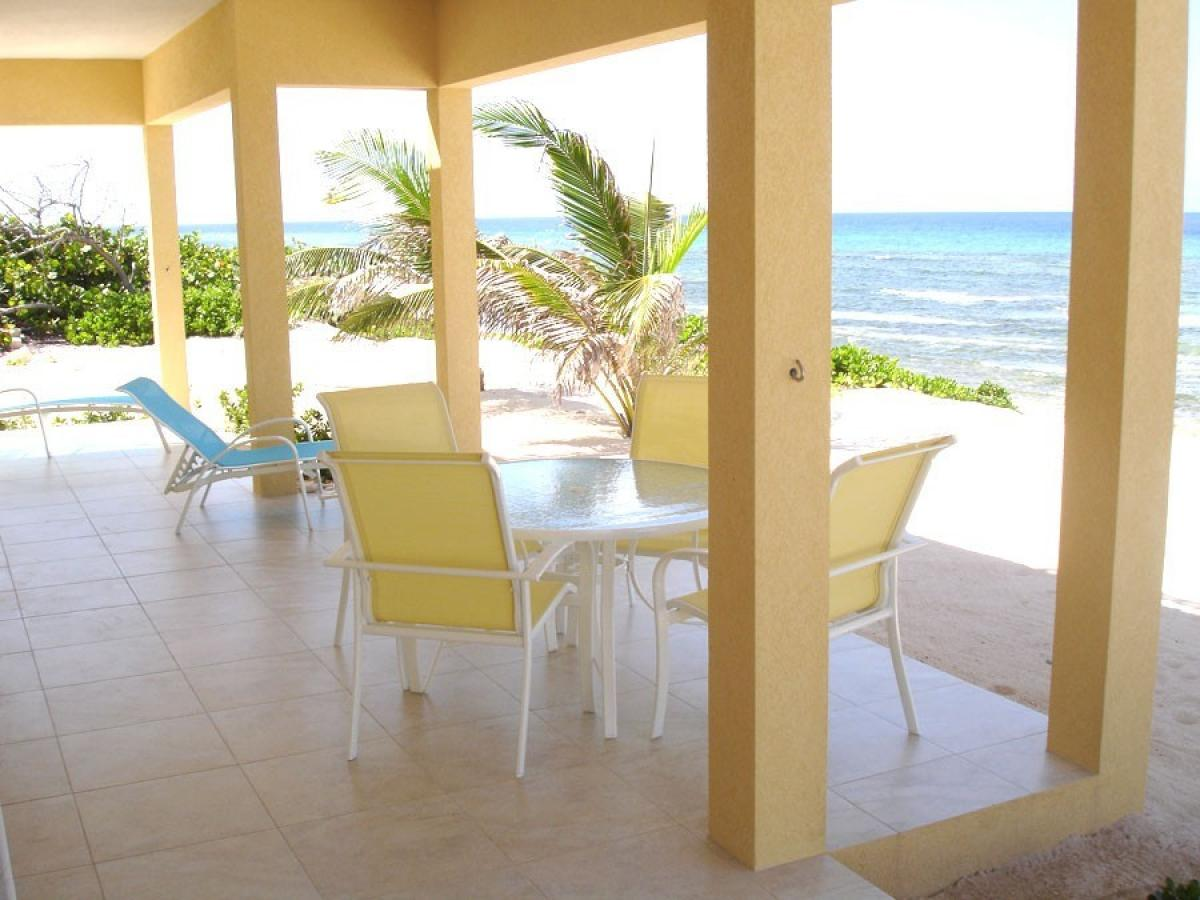 Oceanfront back patio