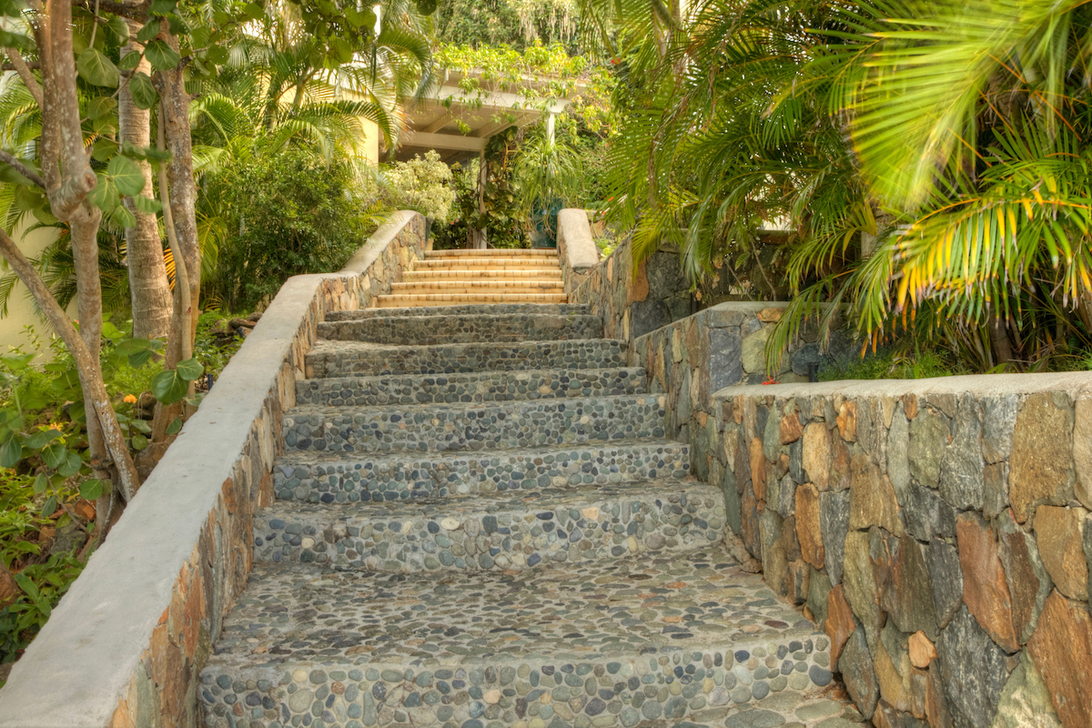 Stairs to the gazebo