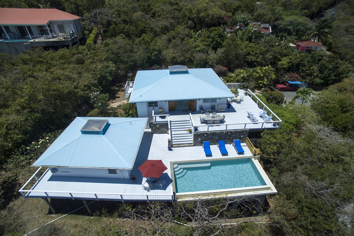 Aerial View of Blue Skies Villa