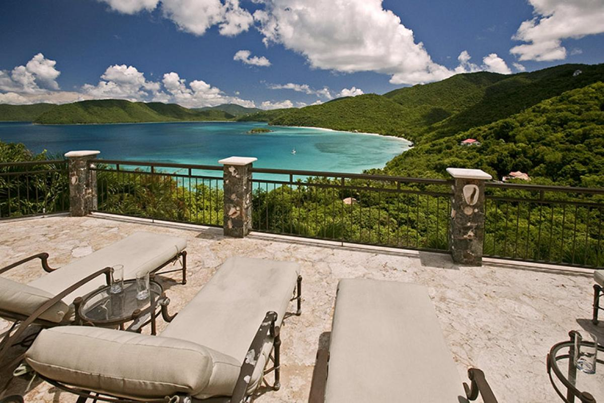 Spectacular views overlooking Peter Bay from the pool deck!