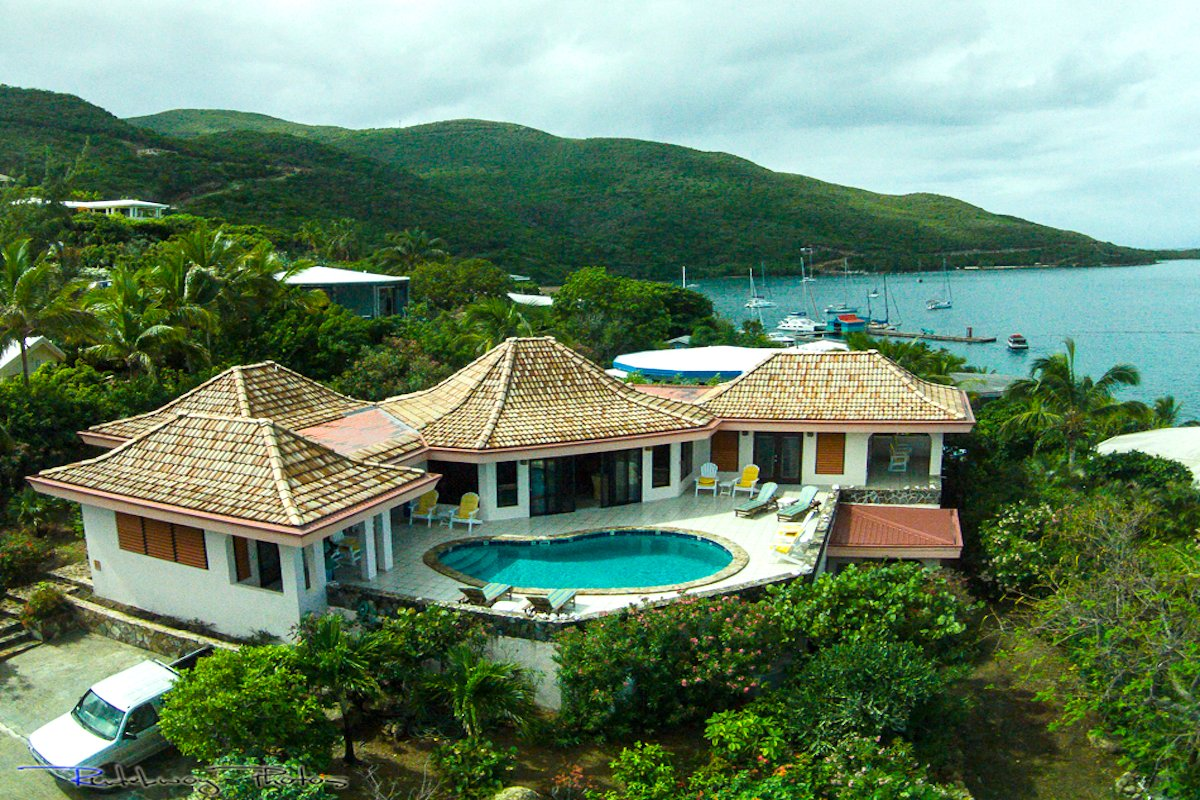 Aerial view of Euphoria villa!