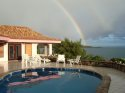 Beautiful rainbow over the villa.