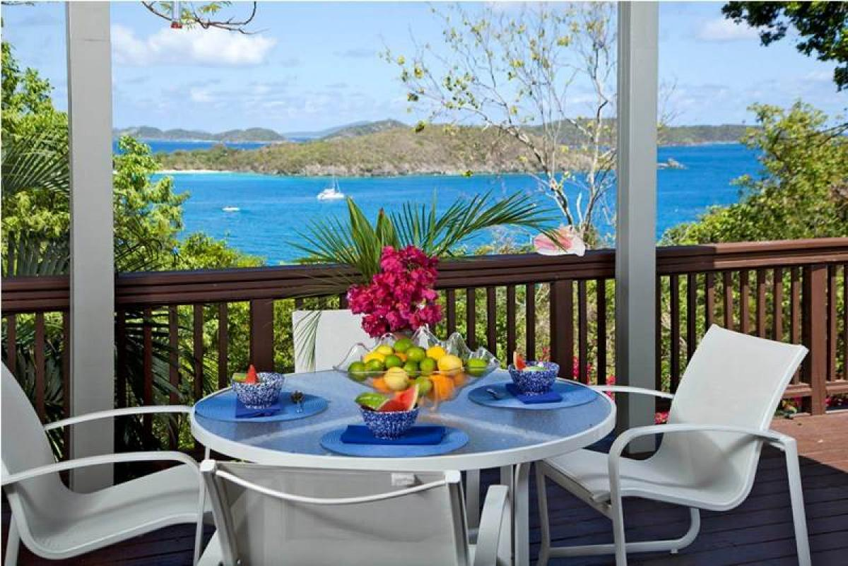 Enjoy the wonderful views overlooking Hawksnest Bay!