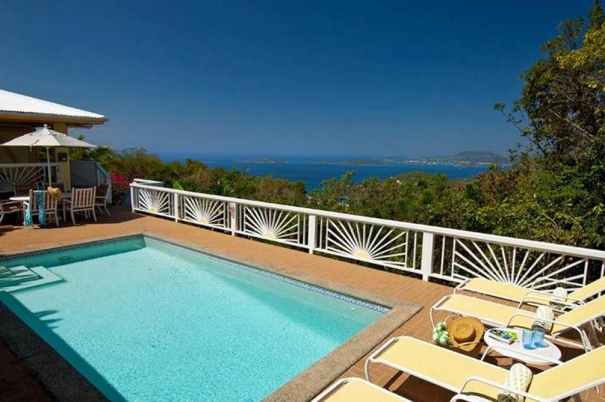 Pool and ocean views at Humming Bird Hill!