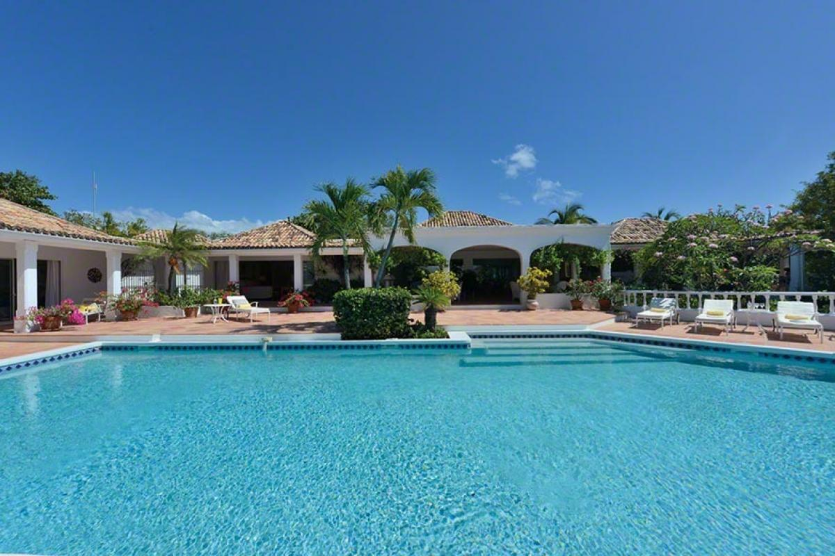 This fabulous pool os just steps away from the beach at Day-O Villa
