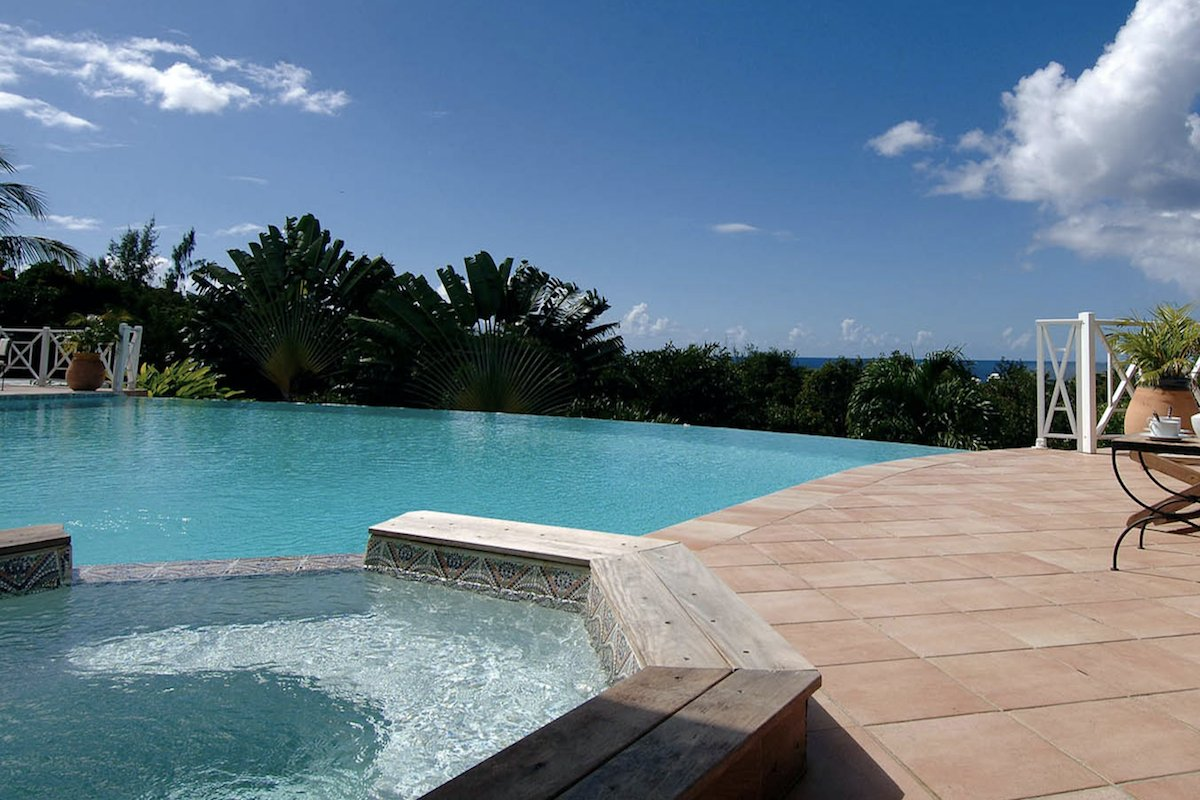 Both the pool and the hot tub provide for the perfect place to relax at La Josephine villa