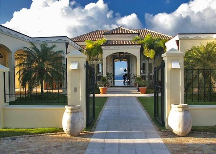 Gated entry to the villa.
