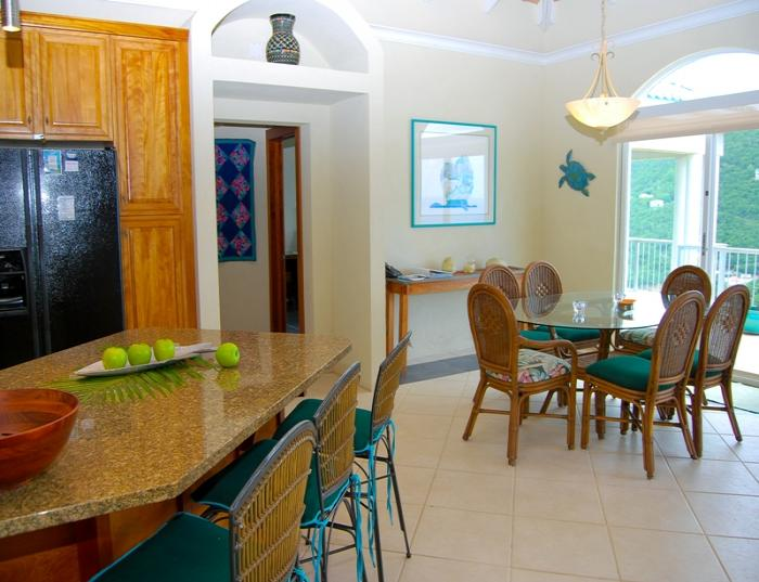 Kitchen and indoor dining area