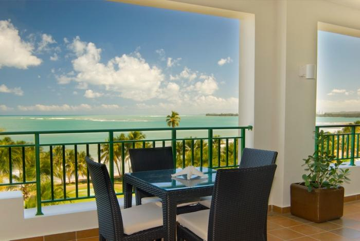 Rio Mar Beach Resort Luxury Ocean Villa  Ocean views from the balcony dining. image, Puerto Rico