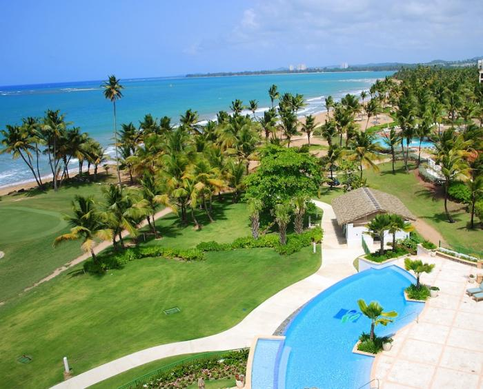 Rio Mar Beach Resort Luxury Ocean Villa  View to the ocean and pool from the 4 bedroom ocean villa! image, Puerto Rico