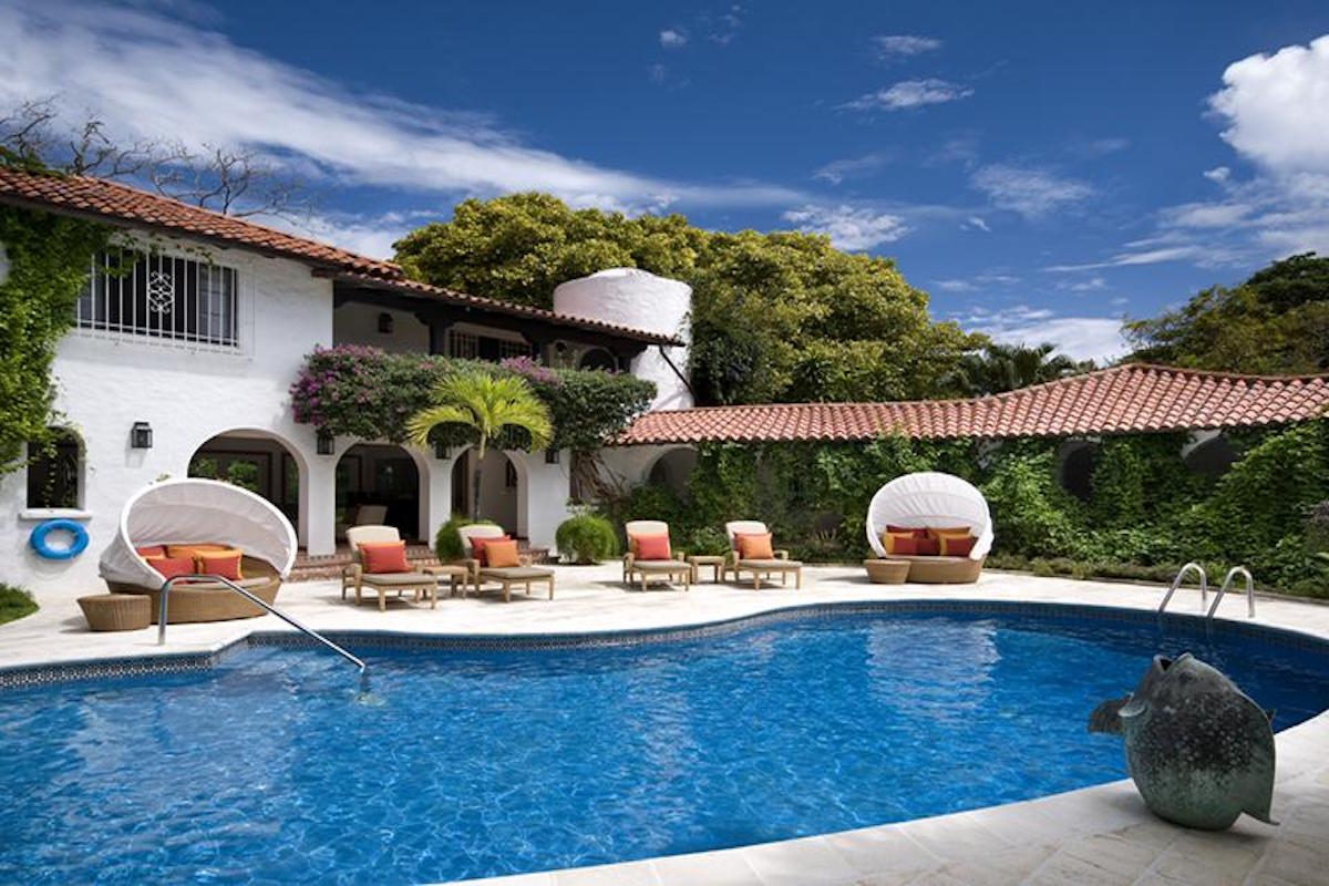 Enjoy lounging by the pool at Elsewhere Villa