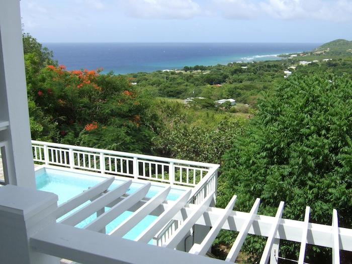 Dragonfly balcony with outstanding views of the  Caribbean sea