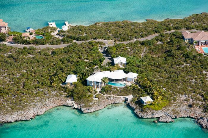 Aerial view of South Seas Villa.