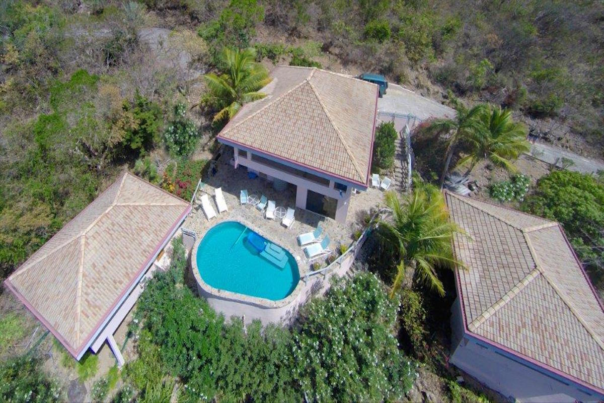 Aerial view of Dos Sols Villa
