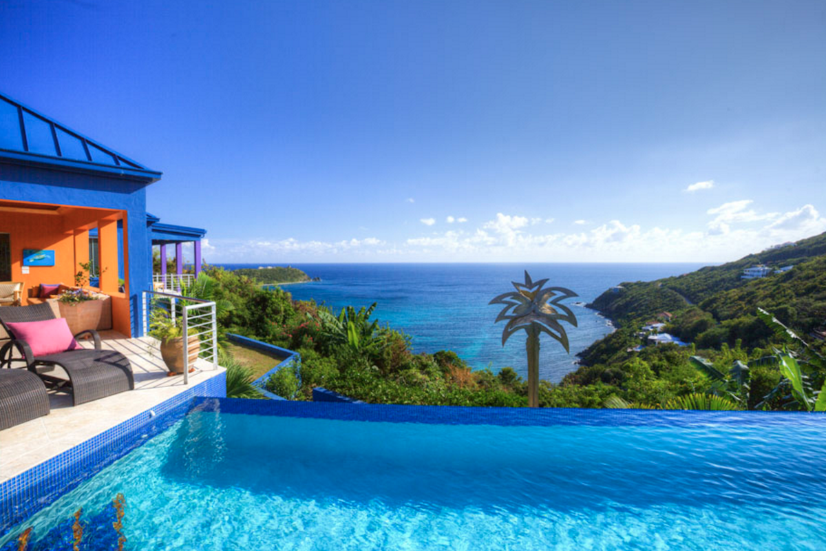 Amazing views of the Caribbean from Mare Blu Villa