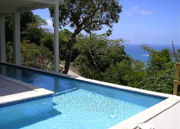 Ocean views from the pool at In the Stars Villa!