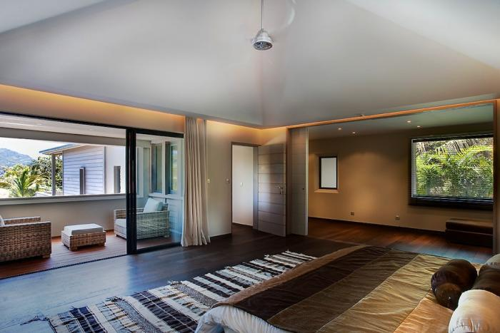 K villa st barts villa rental Balcony in master bedroom