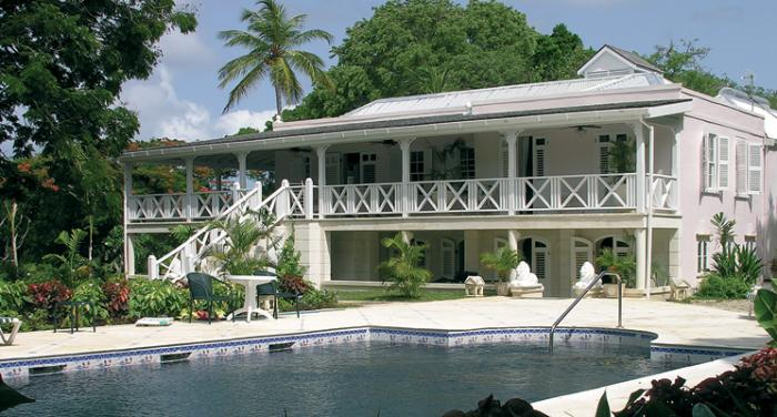"Bellevue Plantation Estate is a ""Caribbean Georgian style"" estate house"