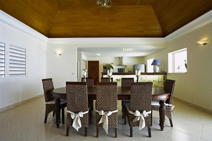 Indoor dining for up to eight!