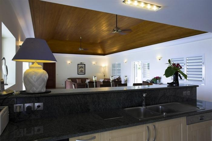 View from the kitchen into the dining/living areas.