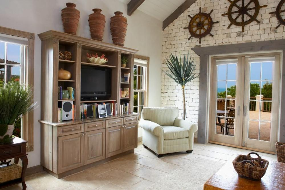 Callaloo cottage turks and caicos villa rental for Caribbean living room ideas