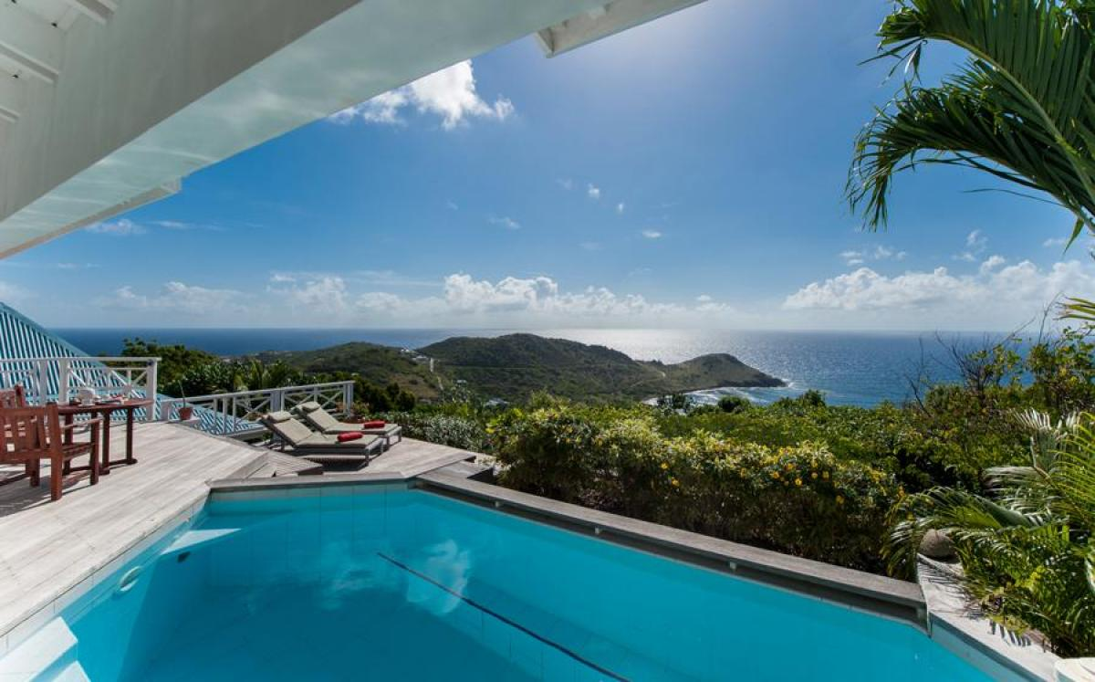 Amazing views as you relax by the pool at Oceana Villa