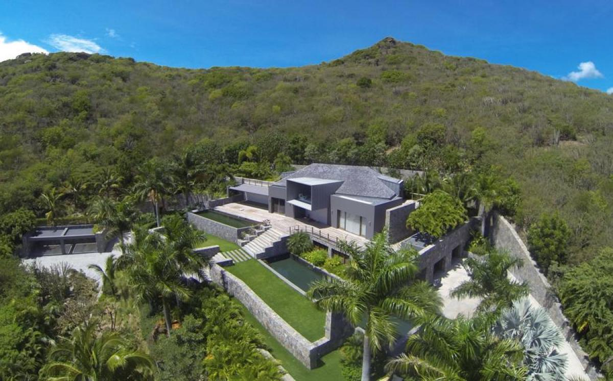 Aerial view of the Dunes Villa