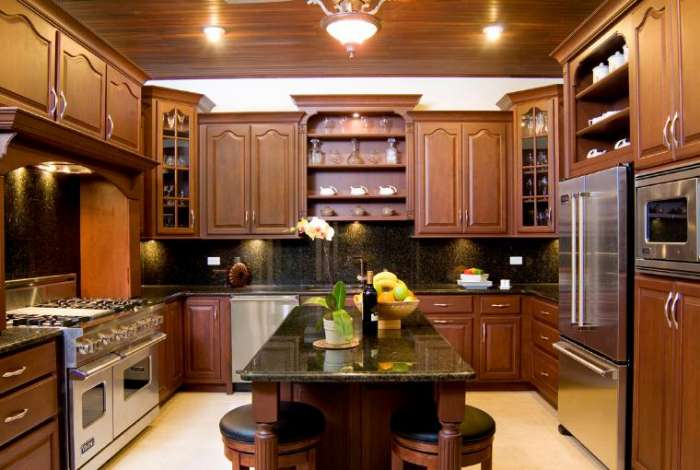 The gourmet kitchen was designed for both the master and amateur chef
