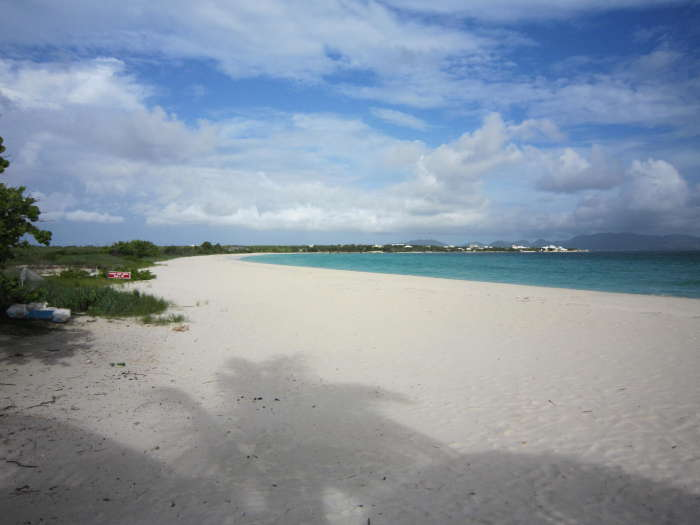 It's just a short walk down to Rendezvous Bay Beach