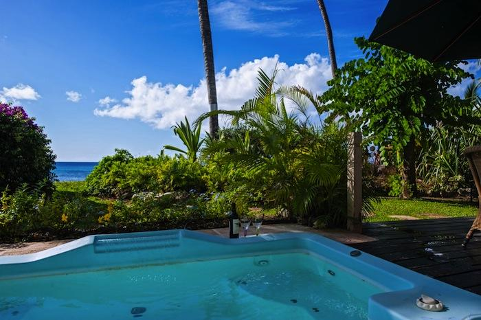 Reeds House #5 Surf's Up Views from the spa pool out to the sea image, Barbados