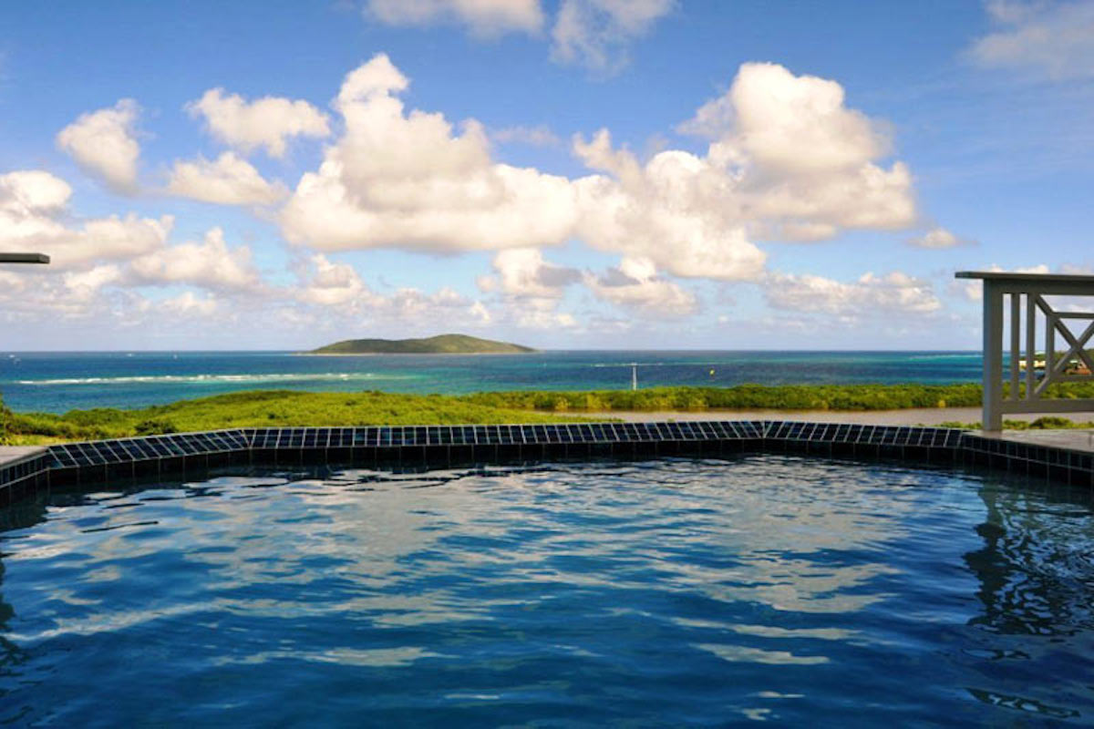 Stunning views of Buck island - and a relaxing private pool at La Viridian