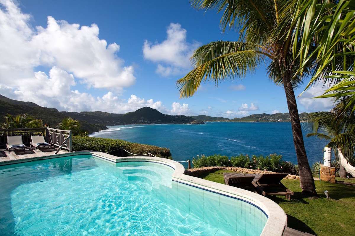 Look out to beautiful views of the Caribbean from Cocoland Villa