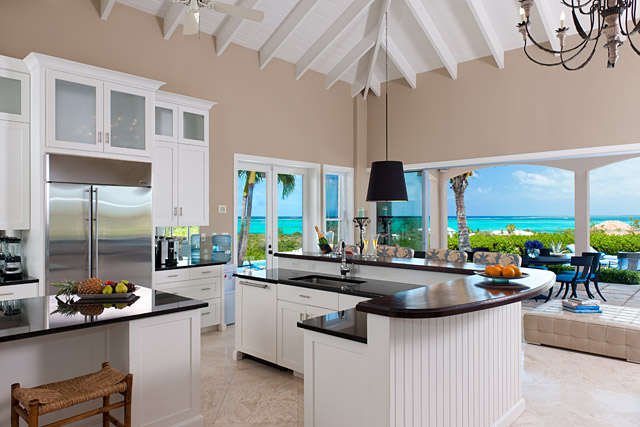 Seabreeze villa 4 bedroom turks and caicos villa rental for View kitchens ideas