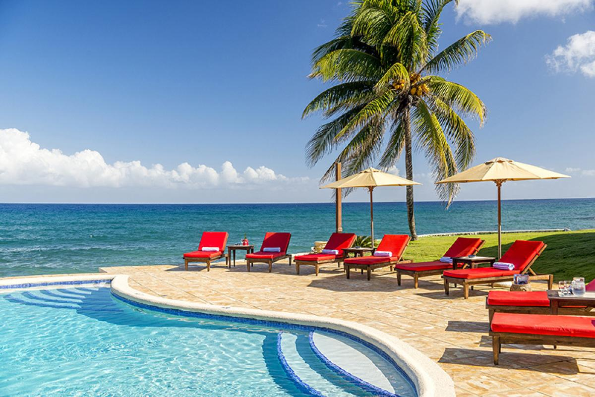 Luxurious lounging both pool side and oceanfront!