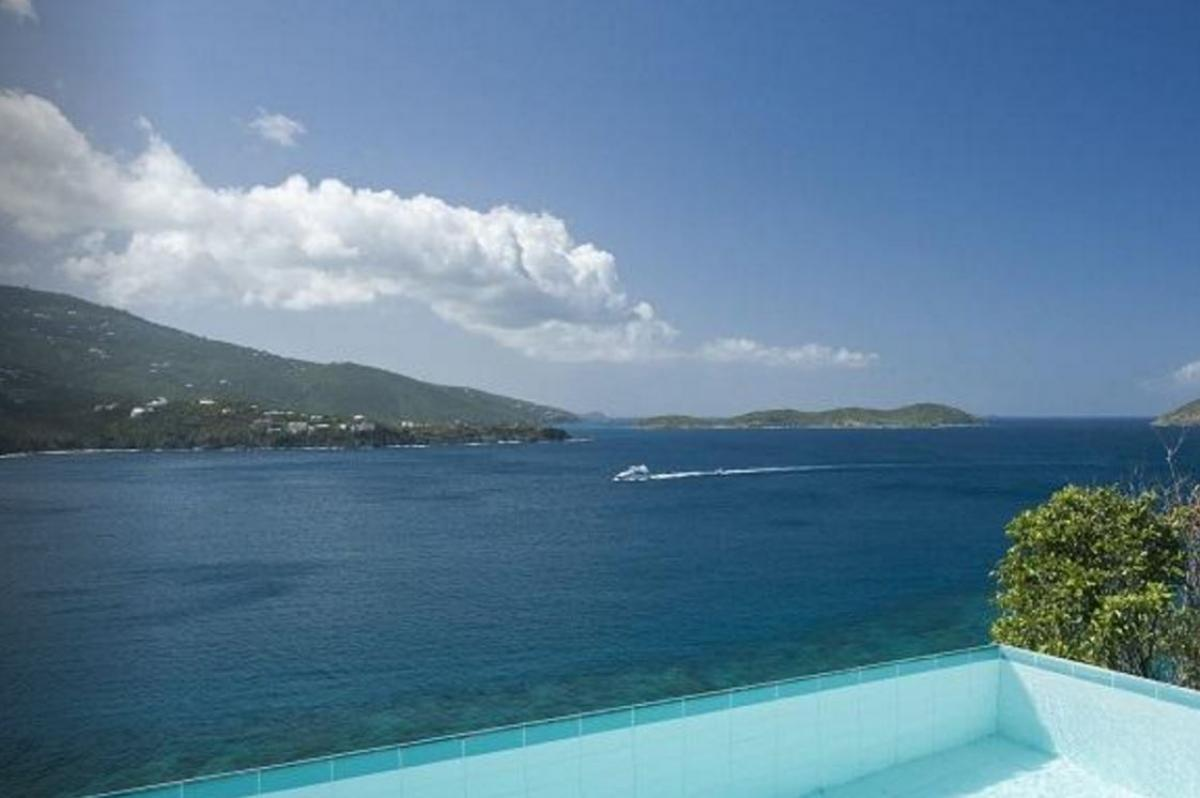 Private plunge pool with views of the Caribbean