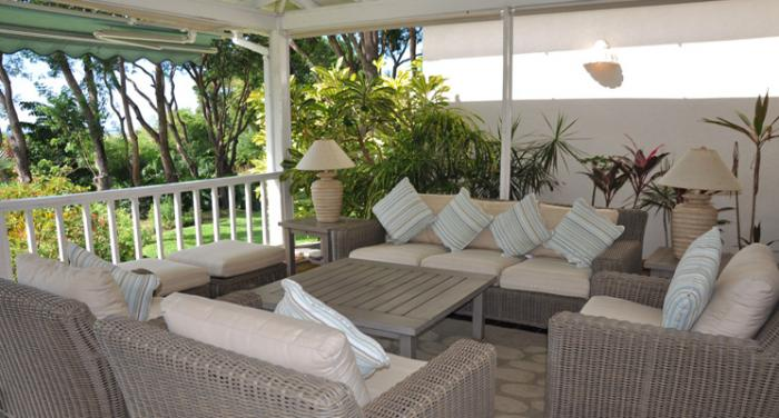 Another view of the terrace sitting area