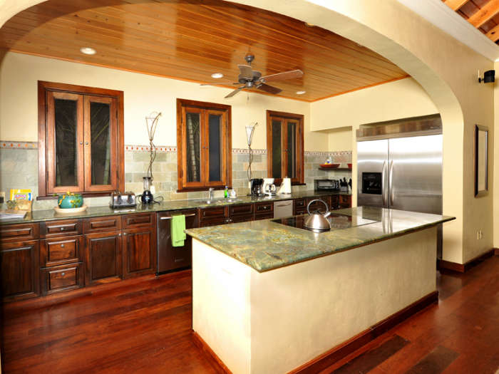 Spacious kitchen with cooking island