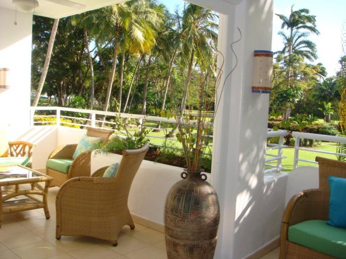 Glitter Bay 211 Sea Wind The patio overlooks the lovely grounds of Glitter Bay image, Barbados