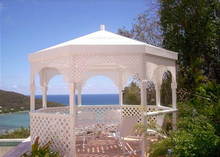 Gazebo with outdoor dining.