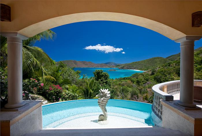 Pool and ocean view from Delfina villa!