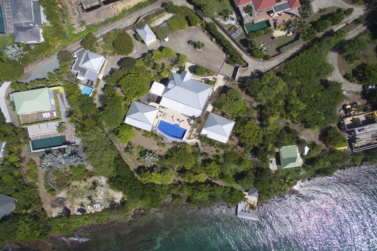 Aerial view of Captiva estate