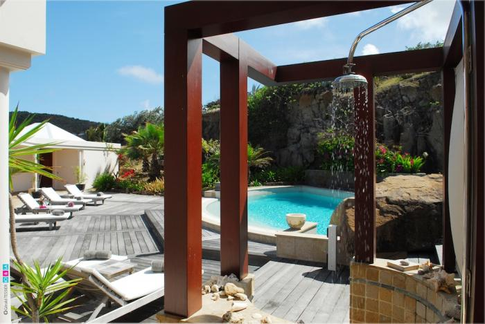 Pool and outdoor shower.