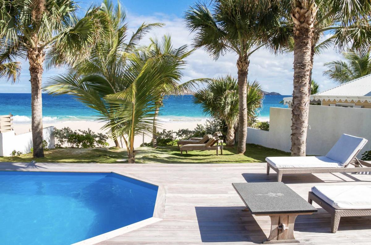 you can hear the ocean waves on the beach while lounging poolside