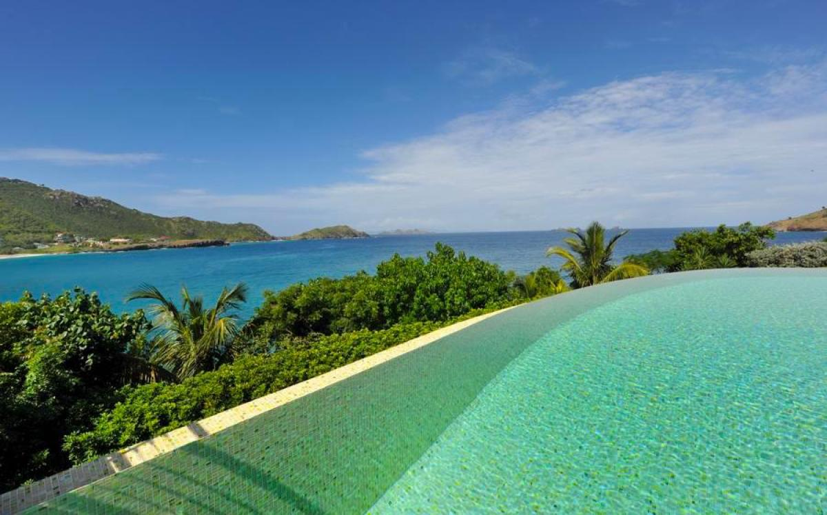 From the pool at Tichka you have amazing views of the Caribbean