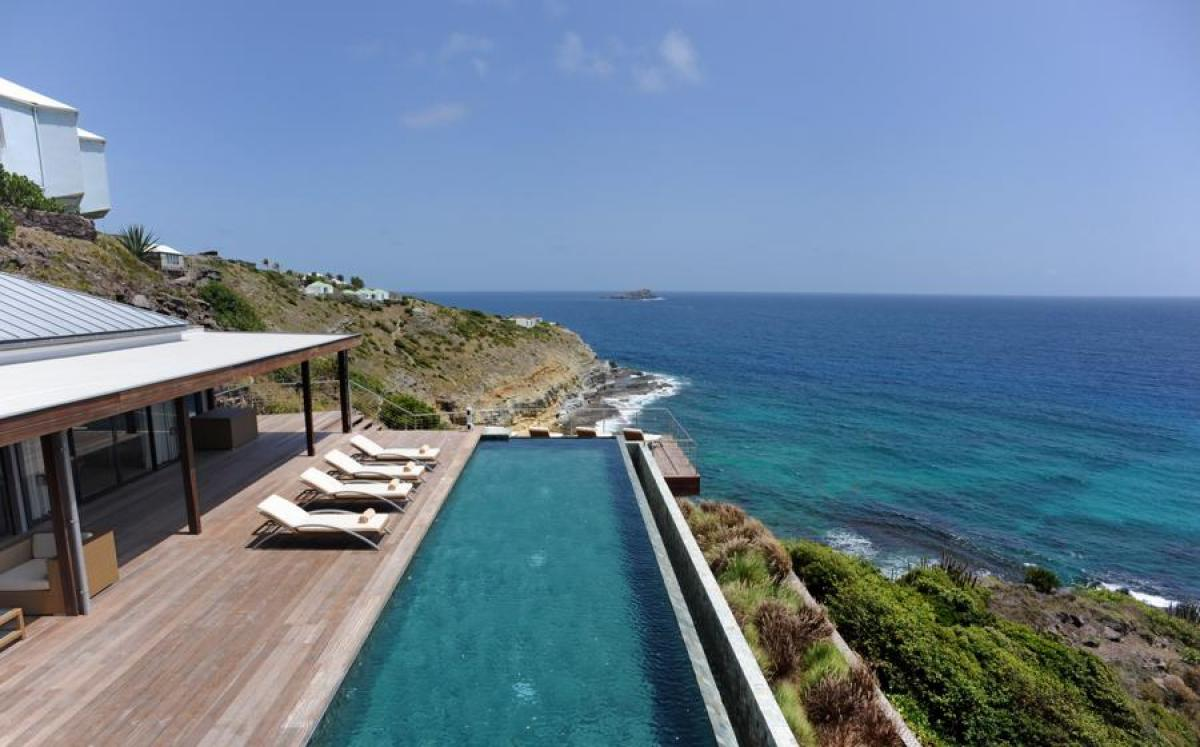 Amazing views from the poolside or the extended deck at Seascape Villa