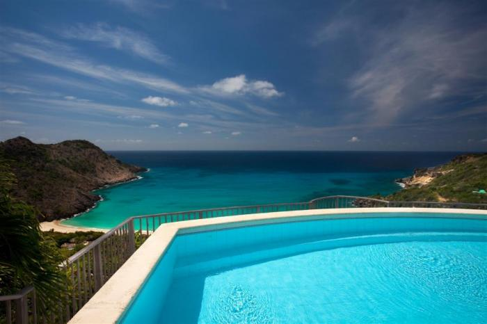 Beautiful pool and ocean views from Sib Ref Villa!