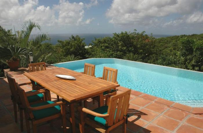 Gorgeous ocean views from the pool at ANA villa!